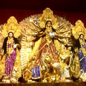 This Durga idol is made from 50 kg gold