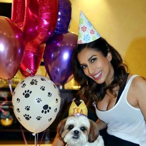Sophie Choudry celebrates her pet's birthday in style