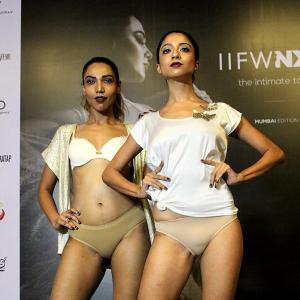 In Pics: Models sizzle in bold lingerie