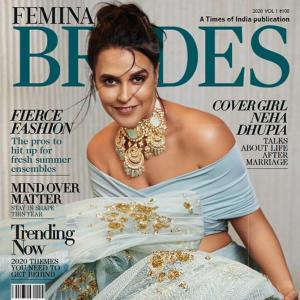 Oomphalicious! Neha as the modern bride on cover