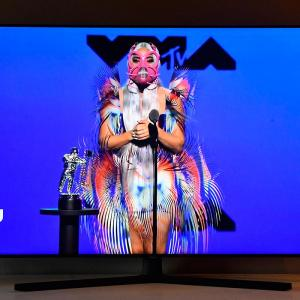 PIX: How Gaga's quirky masks stole the show