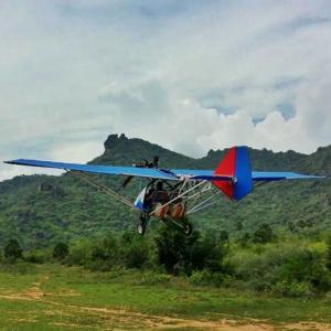 Saji Thomas, a deaf-mute and school drop-out built this aircraft