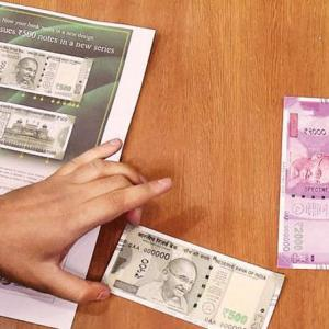 When did the printing of Rs 2,000 notes actually begin?