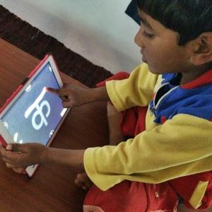 No electricity, no school here but kids learn with iPads!