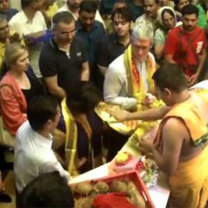 Tim Cook's tryst with India: 1st stop, Siddhivinayak Temple