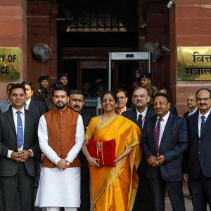 Sitharaman back with 'bahi-khata' for her 2nd budget