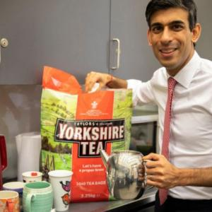 Rishi Sunak's tweet lands tea company in hot water