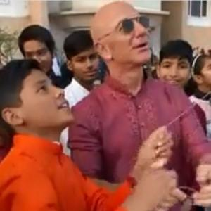 When Jeff Bezos flew a kite in India