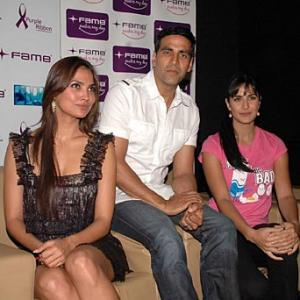 Akshay, Lara and Katrina go Blue