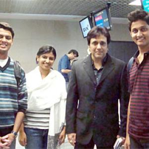 Spotted! Govinda at Mumbai airport