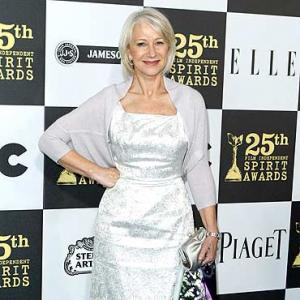 Dame Helen Mirren poses topless