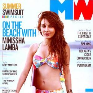 Pix: Minissha shows off her bikini on the beach