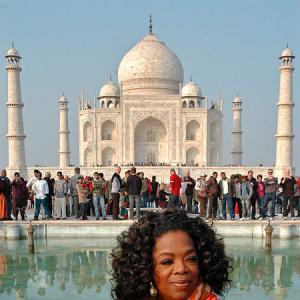 PIX: Oprah visits the Taj Mahal