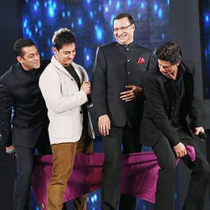 PIX: Shah Rukh, Salman and Aamir's towel dance with Rajat Sharma