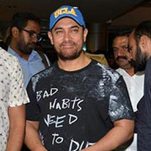 PIX: Aamir, Raju Hirani, Shefali Shah watch a play