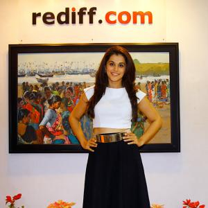 PIX: Baby actress Taapsee Pannu visits Rediff