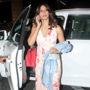 PIX: Bipasha, Riteish Deshmukh, Parineeti leave for IIFA 2015