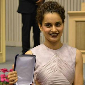 PIX: Kangna, Dhanush, Vishal Bharadwaj attend National awards