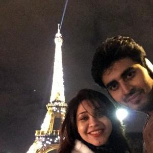 PIX: TV actors Yash, Amrapali visit Paris