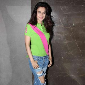 PIX: Ameesha Patel watches film with Kapil Sharma