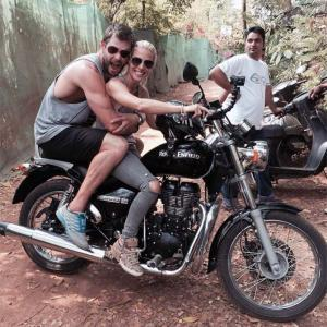 Thor actor Chris Hemsworth visits India
