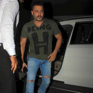 PIX: Salman watches Sultan with family, friends