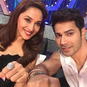 Varun, Jacqueline promote Dishoom on Madhuri's show