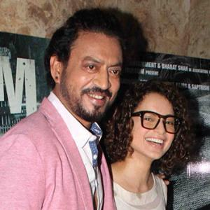PIX: Irrfan, Kangana, Shah Rukh, Big B watch Madaari