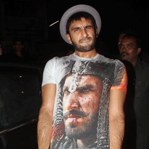 PIX: Ranveer, Shah Rukh, Aishwarya party with Bhansali