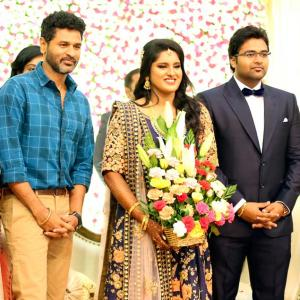 PIX: Prabhudheva, Kamal Haasan attend Ravikumar's daughter's wedding reception