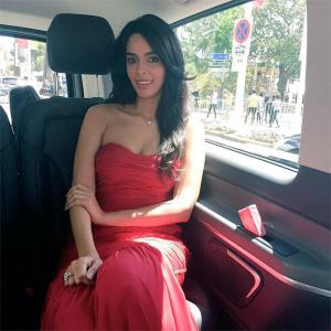 Cannes 2016: Mallika looks elegant in red on Day Two