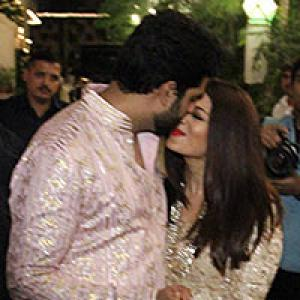 PIX: Abhishek-Aishwarya mingle with Ranbir Kapoor