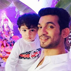 PIX: TV actors Arjun Bijlani, Karan Tacker celebrate Ganeshotsav