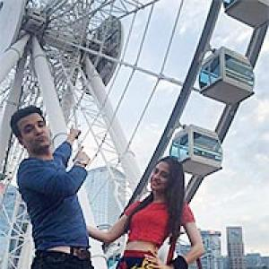 PIX: Aamir-Sanjeeda's fun Hong Kong holiday