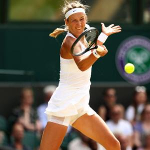 Wimbledon Pix: Azarenka dashes Watson's dreams, Nishikori beaten