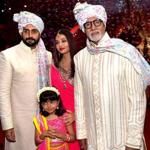 Whose shaadi did Amitabh, Abhishek, Aishwarya attend?