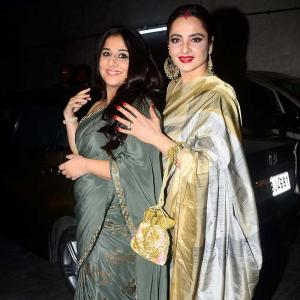 PIX: Vidya Balan, Rekha have a movie date
