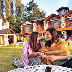 Alia takes in magical Kashmir