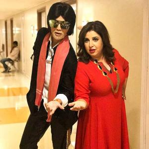 What did Farah Khan do to Amitabh Bachchan?
