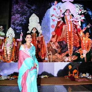 Pix: Celebrating Durga Puja with Kajol!