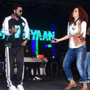 PIX: Watch Taapsee, Vicky dance