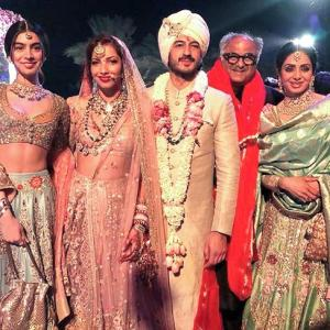 PIX: Sridevi looks gorgeous at Mohit Marwah's wedding!