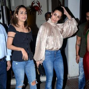 PIX: Malaika, Amrita celebrate daddy's birthday