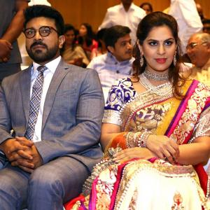 Chiranjeevi, Ram Charan star at dazzling Hyderabad wedding