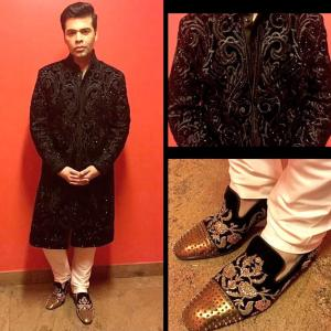 We love Karan Johar's shoes!
