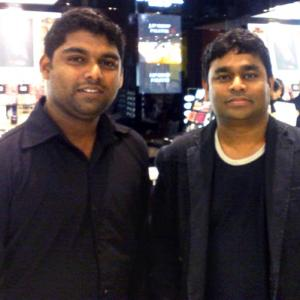 What is A R Rahman doing at a Dubai mall?
