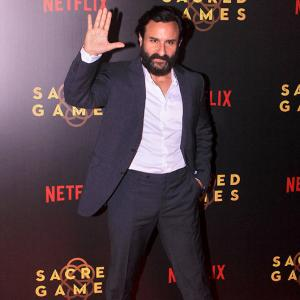 PIX: Radhika, Surveen watch Sacred Games with Saif