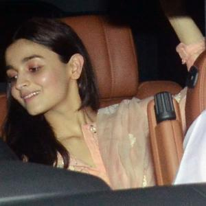 PIX: Alia Bhatt watches Sanju with Ranbir