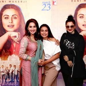 Madhuri watches Hichki with Rani