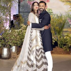 Couple cool: Sonam and Anand at their reception